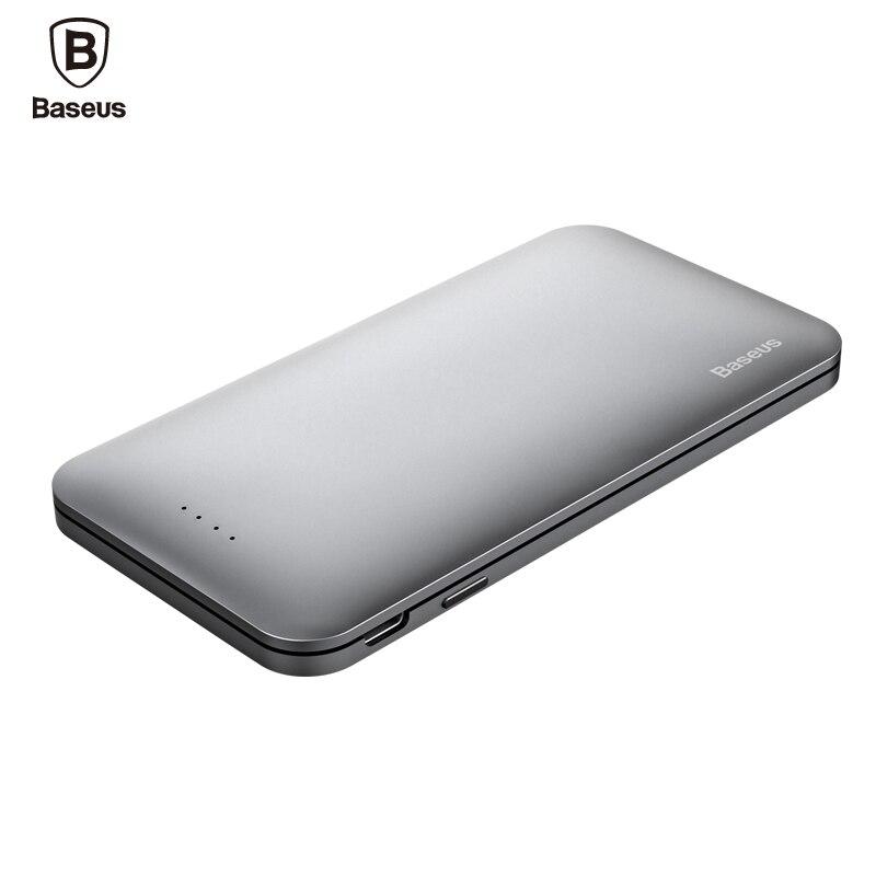 Цена за BASEUS Тип USB C & для молнии Входная мощность Bank 5000 мАч Quick Charge Мощность Bank внешняя Батарея для IPhone Xiaomi USB Зарядное устройство