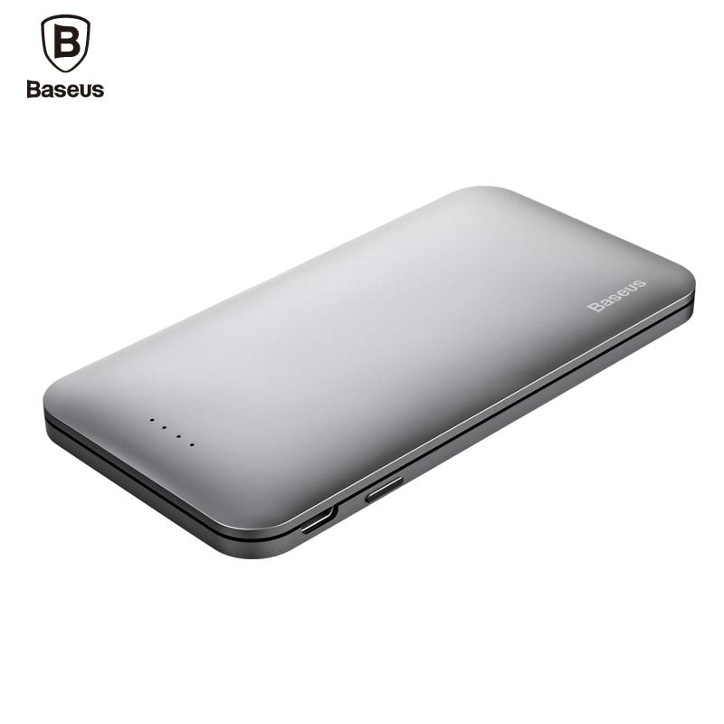 Baseus USB Type C For Lightning Input Power Bank 5000mAh Quick Charge Powerbank External Battery For