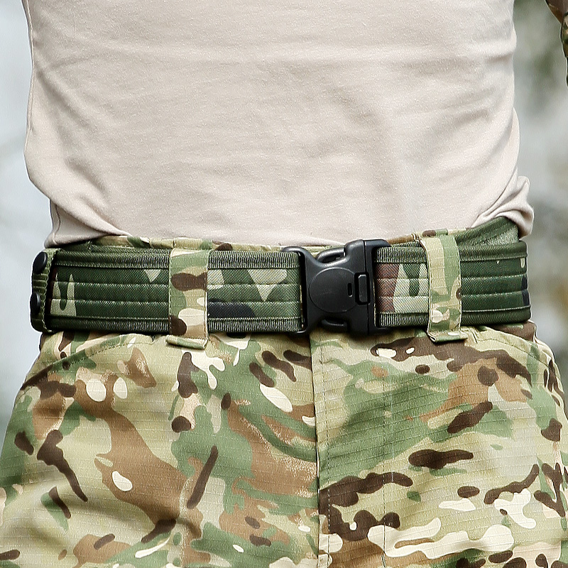 Special Forces Nylon Belt Military Tactical SWAT Army Safety Camo Waist Belt Support Strap Combat Belts Men Casual Training Belt