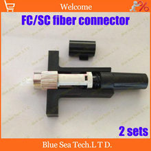 Free Shipping 2 sets Fiber Optic Fast Connector/FC/SC Fast Connector Quick terminators connector for telecommunications(China)