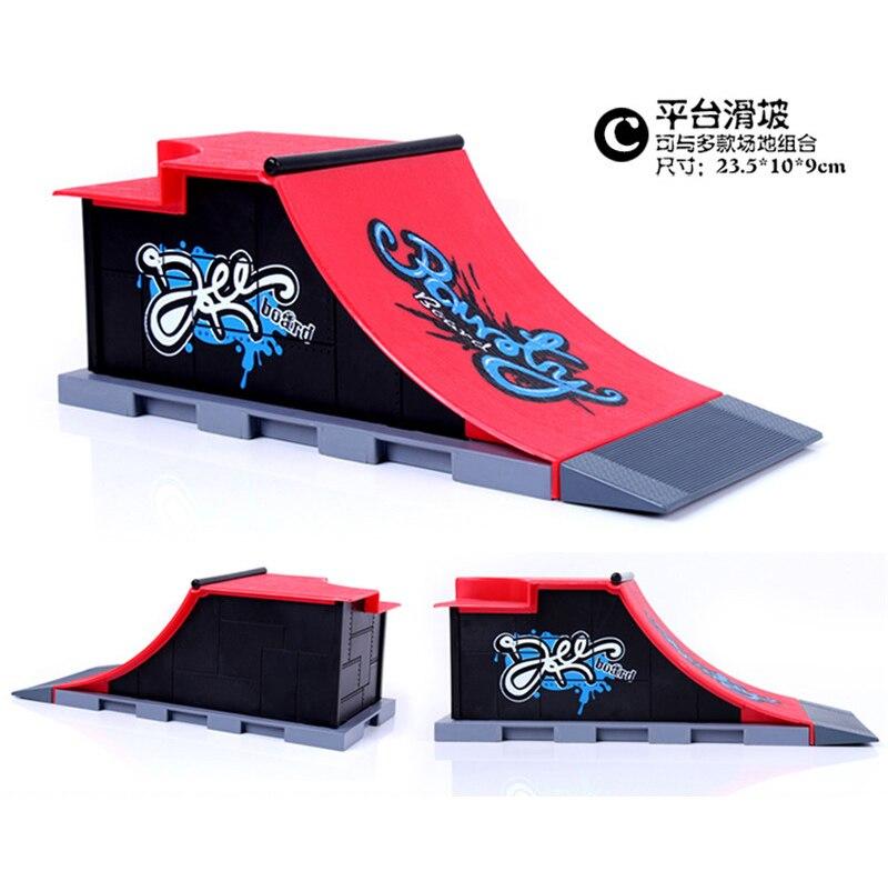 Livraison gratuite modèle demi-Six-en-un (3 pièces) Mini rampe doigt Skateboard parc/Skatepark tech-deck Skate Park comprend 3 doigts planche - 5