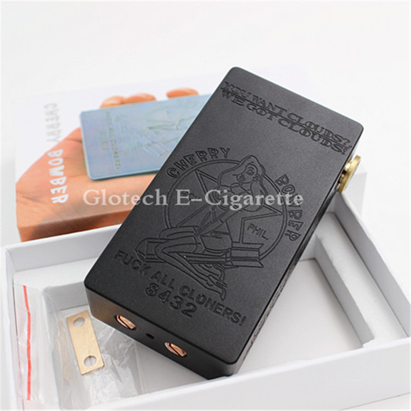 newest cherry bomber box mod full mechanical mod fit for 18650 battery with magnetic switch vs b. Black Bedroom Furniture Sets. Home Design Ideas