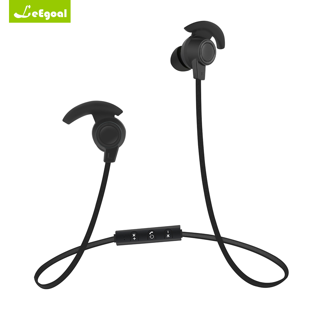 Leegoal Stereo 4.1 Sport Neckband Bluetooth Headset Sport Earphone Magnetic Wireless Headphone with Mic Bluetooth Headset Earbud