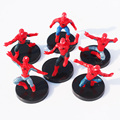 6 Шт./компл. Мстители Супергерои Паук человек-Паук PVC Фигурки Игрушки Куклы С Базой Халк Железный Человек