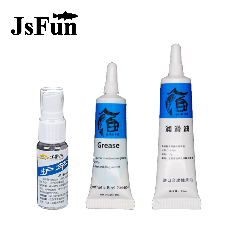 3Pcs/Set Fishing Reel Oil Reel Grease + Liquid Oil lubricant Bearing Maintenance Baitcasting Repair Kits Tool Combination X075
