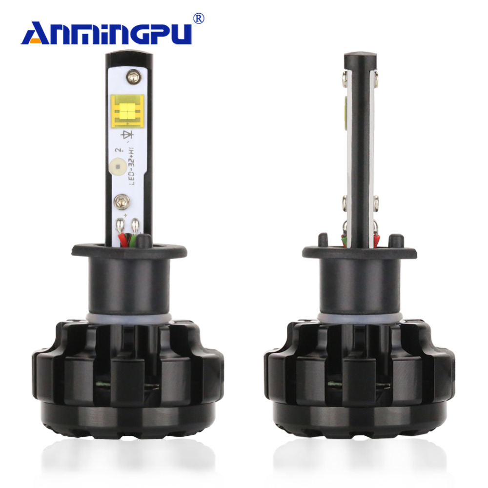 ANMINGPU 2PCS 12000LM/Pair Headlight Bulbs H4 H7 Led Headlights H11 9005 9006 9004 9008 H1 Led With Cree Chips 6000K Car lights philips pair of h7 x tremeultinon led car headlight 25w 1760lm each bulbs headlamp with 6000k cool white light car head lights
