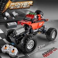 489 шт. 2,4 ГГц RC автомобиль Строительные блоки Кирпич Внедорожный гоночный мотор функция мощности Совместимость Legoing технические игрушки для