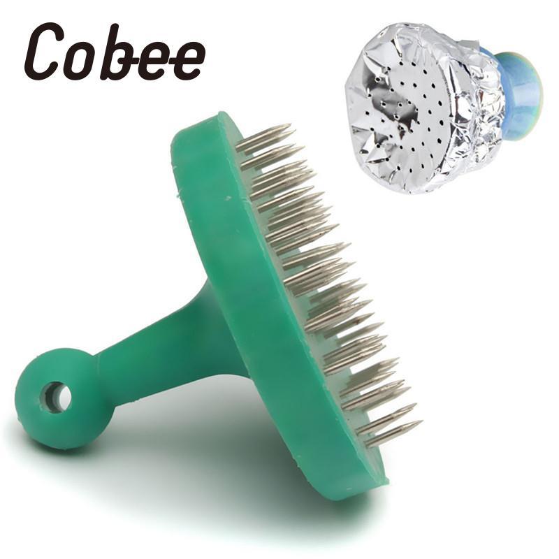 Cobee 1pc Foil Hole Puncher For Hookah Bowl Nargila Glass Smoke Molasses Random Color Tobacco Foil Hole Puncher