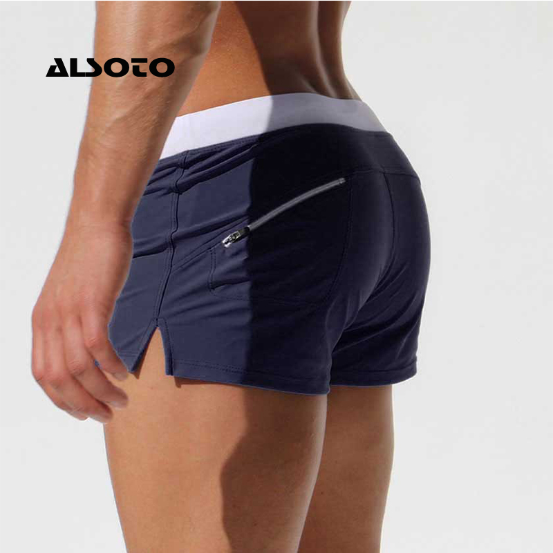 ALSOTO Summer Swimwear Men Breathable Men's Swimsuits Trunks Boxer Briefs Sunga SwimSuits Maillot De Bain Beach   Shorts   2019 New