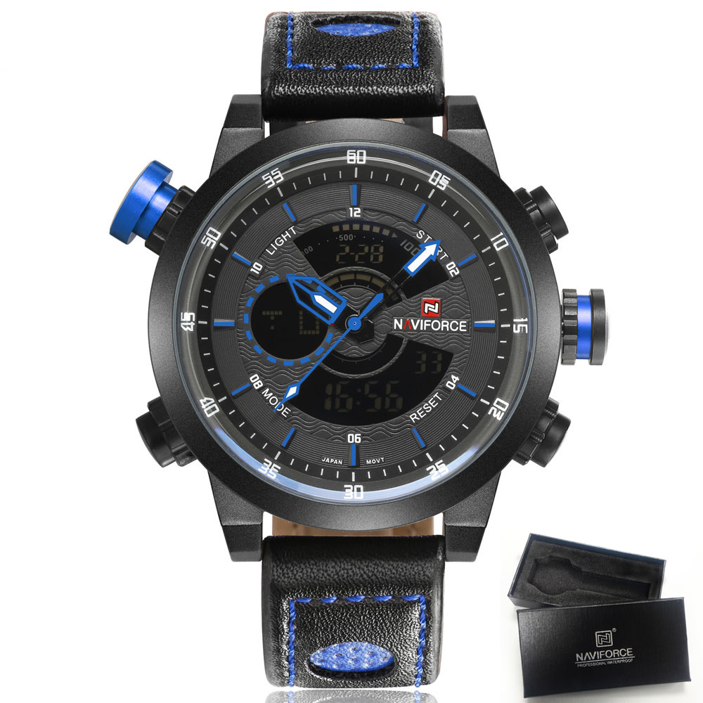 2018 Luxury Brand NAVIFORCE Men Sport Watches Mens Quartz LED Analog Clock Man Military Waterproof Wrist Watch relogio masculino