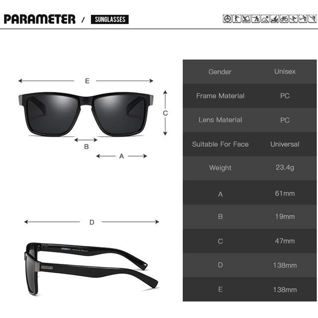 d615443c94 DUBERY Brand Design Polarized Sunglasses Men Driver Shades Male Vintage Sun  Glasses For Men Spuare Mirror ...
