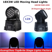 New Arrival RGB LED Stage Light Moving Head Beam Lights LED Disco Lights DMX512 LED Dj Merry Christmas Sound Active DMX Dj Light dmx beam 13 channels rgb 18x3w led beam moving head light professional light for dj disco stage lighting