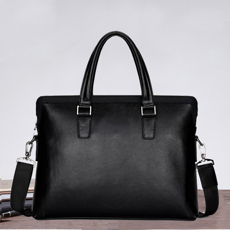 New Luxury 100% Cow Genuine Leather Business Men's Briefcase Male Shoulder Bag Brand Design Men Messenger Bag Tote Computer Bag 100% genuine leather men bag brand designed men laptop briefcase business bag cow leather men handbag shoulder bag messenger bag