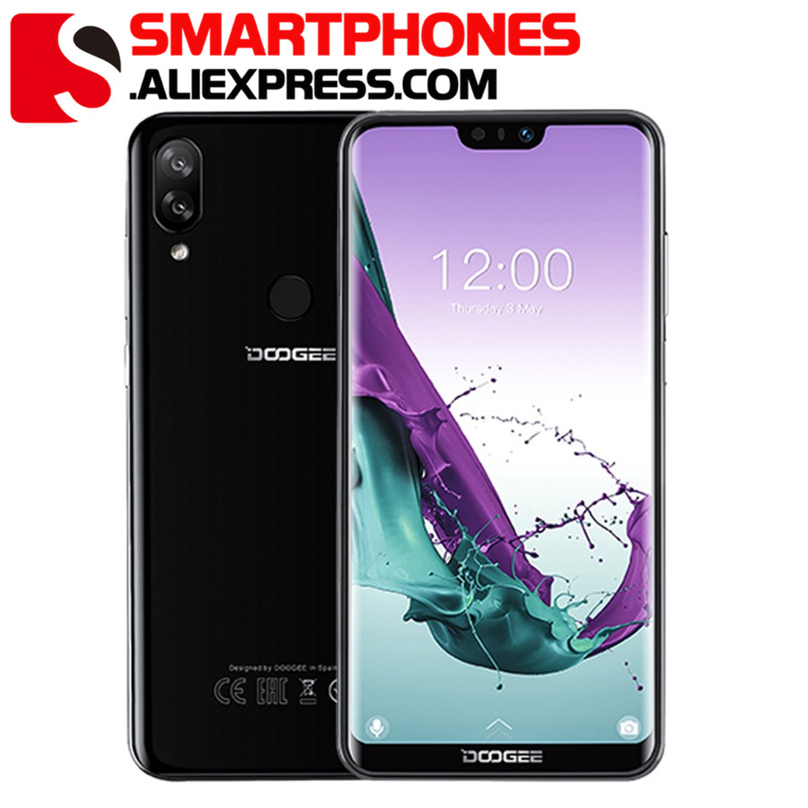 DOOGEE N10 Android 8.1 Mobile Phone 3GB RAM 32GB ROM 5.84inch FHD+ 19:9 Display Dual 16.0MP 3360mAh 4G LTE Dual SIM Smartphone