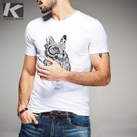 Free shipping men short-sleeve fashion owl print slim t-shirts 8107