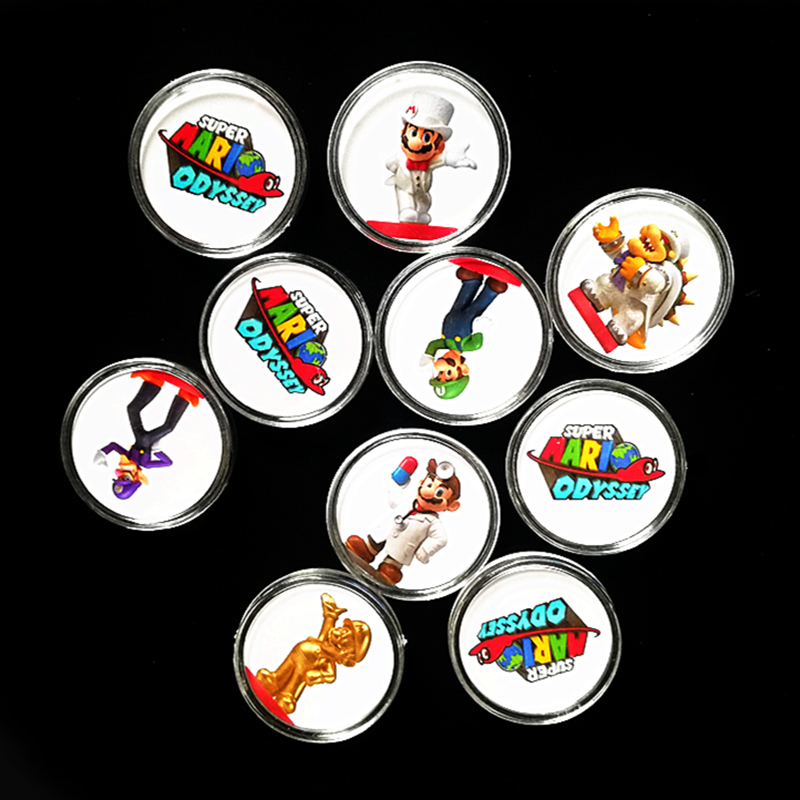 Full Set 10Pcs Super Mario Odyssey NFC Game Card For Amiibo Collection Coin Ntag215 Tag Prined Sticker Switch Wiiu Fast Shipping