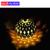 Nueva 10LED Marroquí Lámparas Solares Cadena blanco Cálido LED Luces de Hadas de la Fiesta de Jardín Decoración De Navidad Lámpara de La Bola Envío Gratis