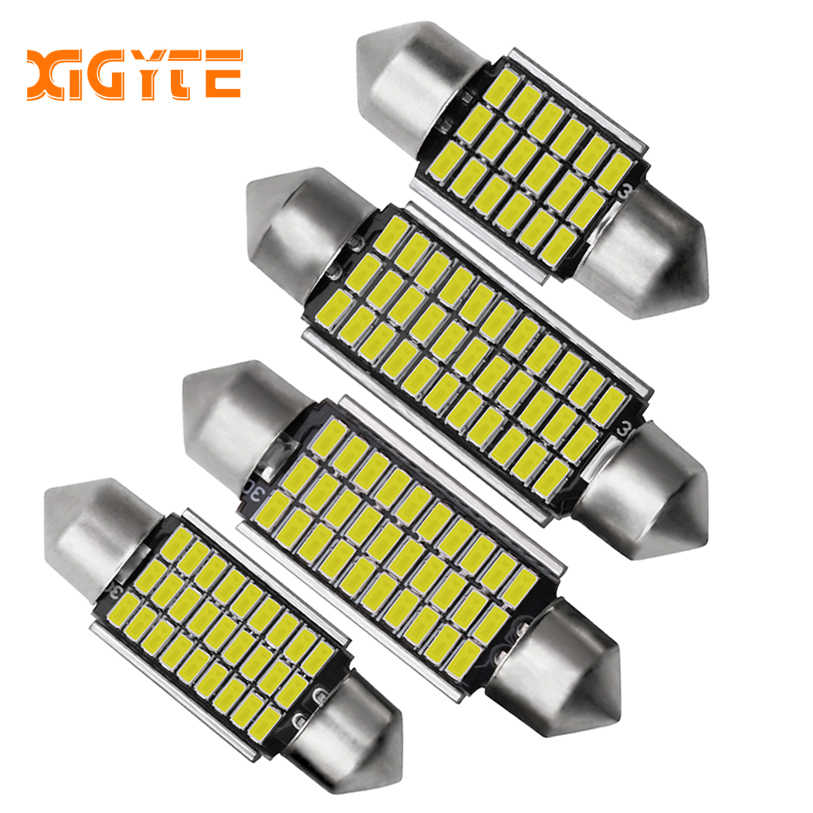 1pcs 2019 C5W LED Car Interior Light Canbus Festoon 31mm 36mm 39mm 42mm LED Bulbs 6000K White Dome Reading Light Auto Lamp 12V