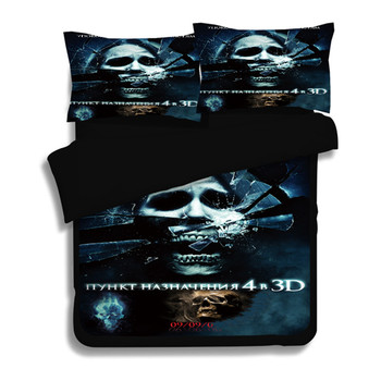 3D Skull Bedding Set Twin Full Queen King 3D Printed Duvet Cover Black Bedclothes 3pcs Fashion Home Textiles For Boys/mens gift