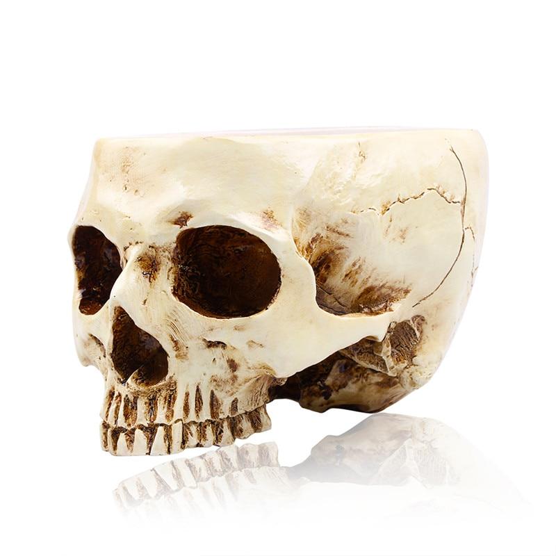 Animal crâne résine Pot de fleur fait à la main Sculpture modèle 1:1 cendrier fantôme Festival Pot de fruits cuve de stockage famille Decorati