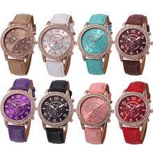 Relogio feminino женские часы наручные часы из искусственной кожи ремешок из нержавеющей стали Кварцевые аналоговые reloj mujer kol saati montre femme