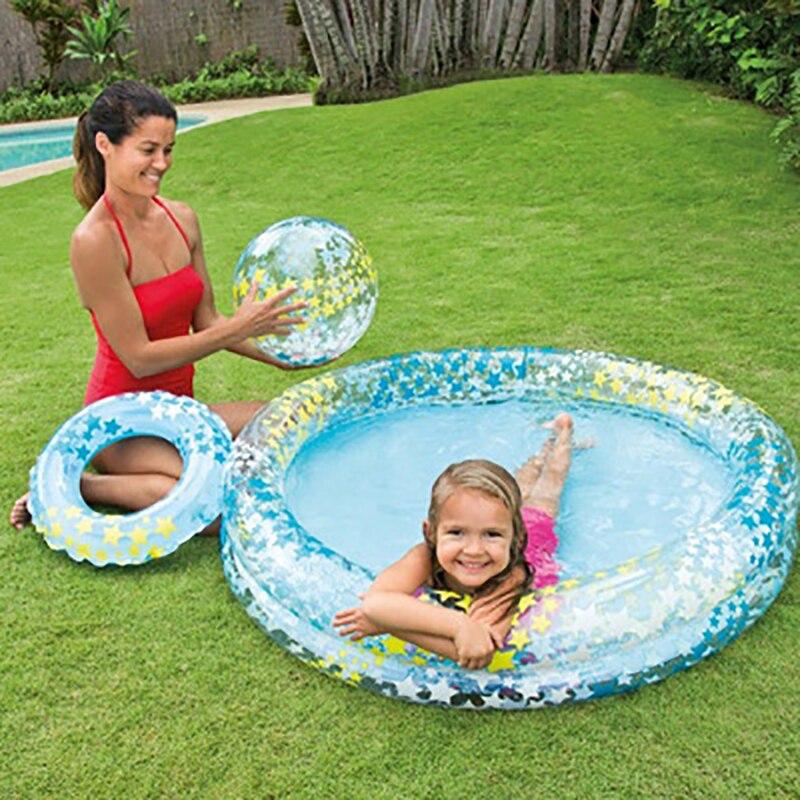 Enfants nager flotteur bébé cou flotteur piscine bébé sécurité accessoires flotteurs pour piscine balle gonflable eau jouets enfant