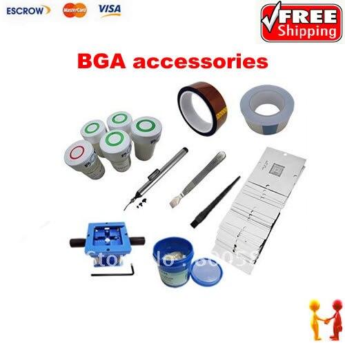 Free shipping bga reballing kit,bga solder paste,bga solder ball ,bga soldering station,90mm stencil стоимость
