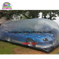 Hail Proof Transparent Inflatable Car Bubble Cover, Inflatable Car Capsule For Sale