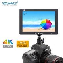 7 дюймовый монитор камеры Feelworld T7 4K HDMI 1920x1200, ЖК дисплей IPS Full HD, видеопомощник, 7 дюймовый полевой монитор камеры