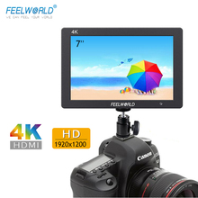 "Feelworld T7 7 ""Camera monitor 4 K HDMI 1920x1200 LCD IPS Full HD Op camera Monitor video Assist 7 inch Camera Veld Monitor"