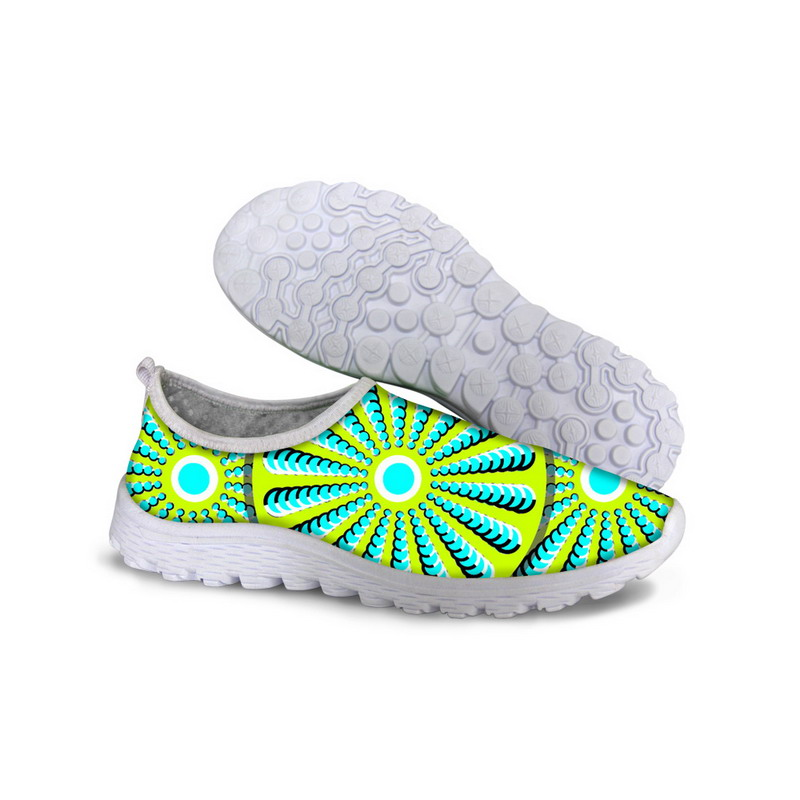 ELVISWORDS Sneakers Air-Mesh-Shoes Flats-Spring Casual Fashion Summer Green Man Lightweight