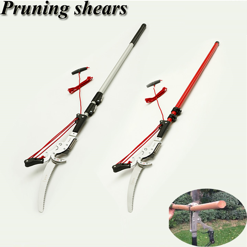 High Altitude Pruning Shears Telescopic Pruning Shears With 4.2cm Cutting Diameter Scissors Garden Tools For Tree Pruning 1pcs