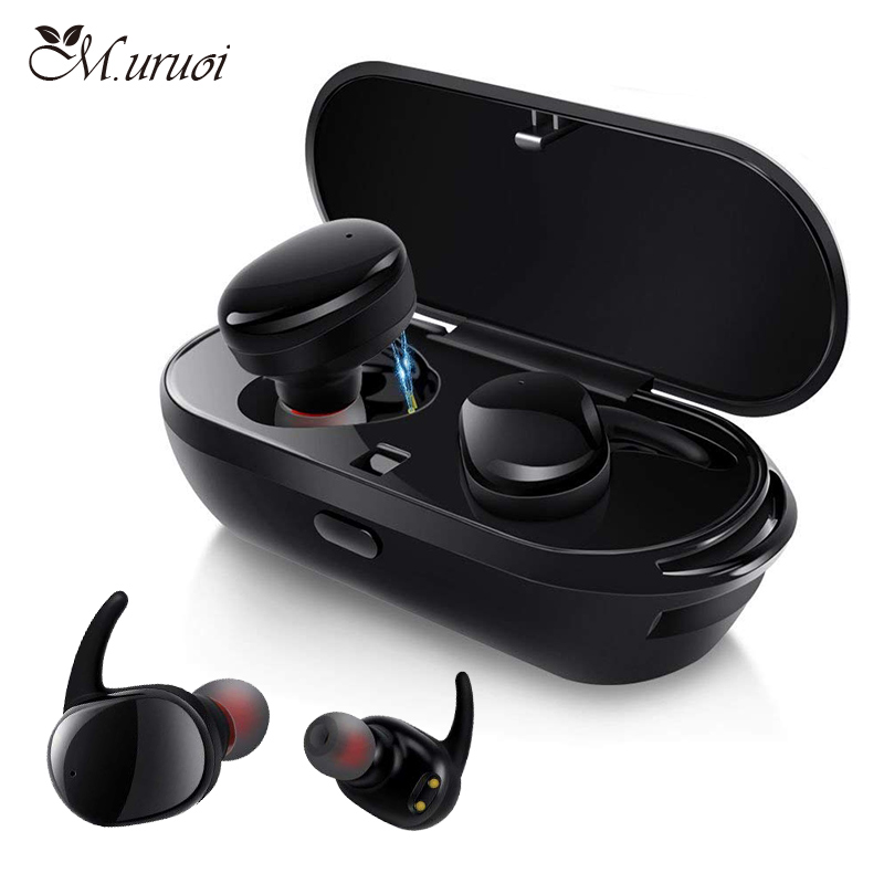 M.uruoi Touch Bluetooth 5.0 Stereo Headsets IPX5 Waterproof Wireless Earbuds CVC 8.0 Noise Reduction Sport Earphones With HD Mic dodocool magnetic bluetooth earphone v4 1 headset wireless earbuds stereo sport earphones with hd mic cvc 6 0 noise cancellation