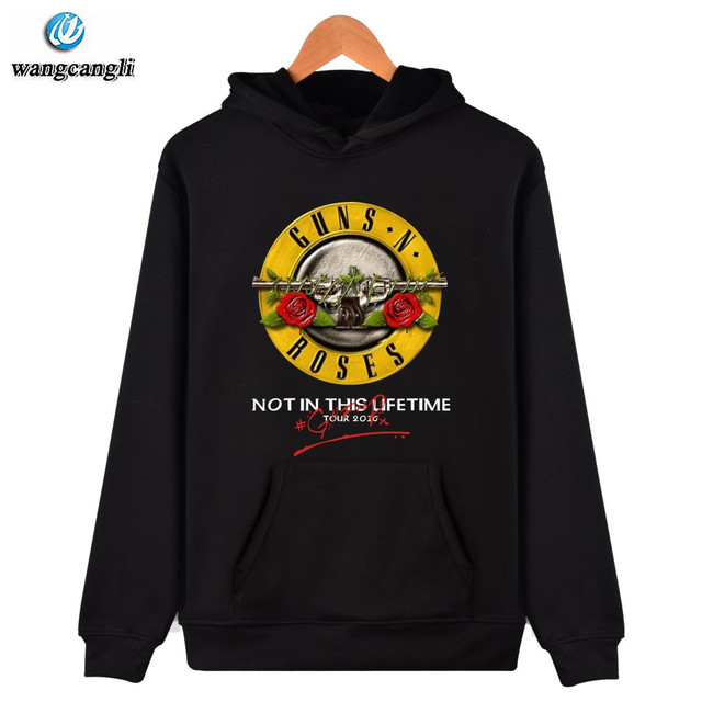 a325b9dae8 2019 Guns and Roses Mens Hoodies Sweatshirt Autumn Winter Hoodie Men Rock  Band Tracksuit Hip Hop 4XL Jacket Coat Guns N Rose