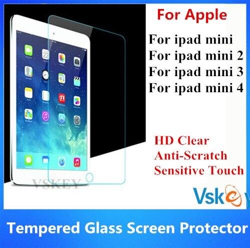 bilder für 10 stücke 2.5D Gehärtetem Glas Für Apple ipad Mini 2 mini 3 Ipad mini 4 Anti-Scratch-Screen Protector freies Verschiffen