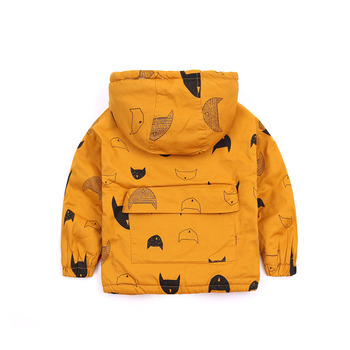 Fashion Solid Hooded Jacket for Baby Boys 3