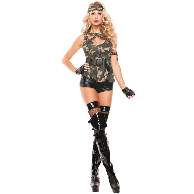 3ad41d03bc4 US $24.91 |Adult Women Sexy Army Special Forces Halloween Military  Costumes-in Sexy Costumes from Novelty & Special Use on Aliexpress.com |  Alibaba ...