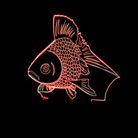 Yenilik Goldfish LED Gece Işık Renk Değiştirme 3D Altın Balık masa Masa Lambası Çocuk Yatak Odası Aydınlatma Xmas Yeni Yıl Çocuklar hediyeler