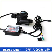 15m DC brushless Pump, 24V Solar Power, Submersible Speed Adjustable 1,200L/H, Lifespan>30000hours
