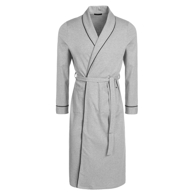 Avidlove Brand Men's  Lightweight Solid Cotton Bathrobewith Long Sleeve Ankle Length Casual Men Sleepwear Nightgown 3 Color