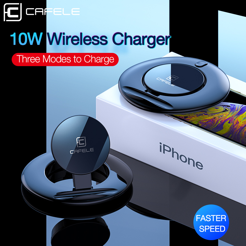 Cafele QC3.0 Wireless Charger 10W Qi Fast Charge Phone Charger for iPhone 8 X XS MAX huawei Xiaomi Samsung Galaxy S9 S8 Plus S7(China)