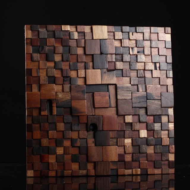 Mosaico Di Legno.Us 396 0 Mosaico Di Legno D Epoca In Legno Massello In Stile Rurale Parete Bar Decorazione Musiva Strutturato Retro Finitura In Mosaico Di Legno