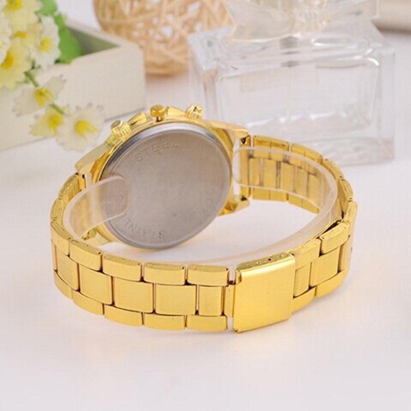 Dames luxe casual mode quartz horloge roestvrij staal horloges rose - Dameshorloges - Foto 5
