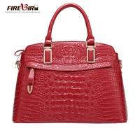 FIREBIRD!Genuine leather bag Luxury Brand Female pouch Crossbody bags for women crocodile pattern women messenger bags HL2005
