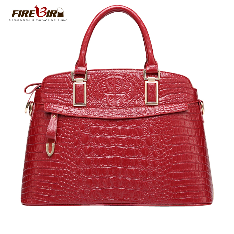 FIREBIRD!Genuine leather bag Luxury Brand Female pouch Crossbody bags for women crocodile pattern women messenger bags HL2005 hmily genuine leather crossbody bag female diamond lattice messenger bag luxury socialite daily bag chaibs style women bag