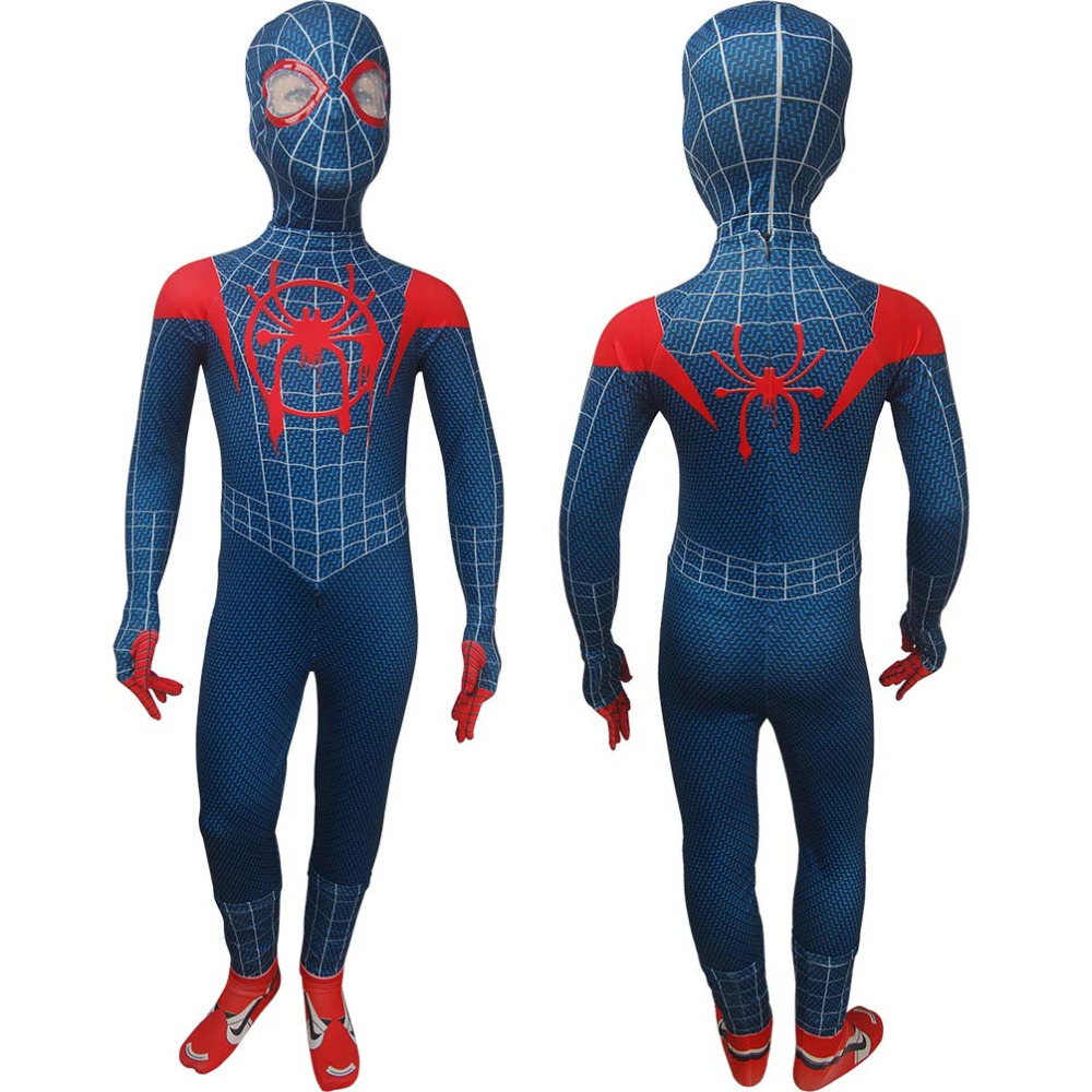 Kids Spider-Man: Into the Spider-Verse superhero jumpsuit zentai suit cosplay Halloween costume X'mas Valentine's birthday gift