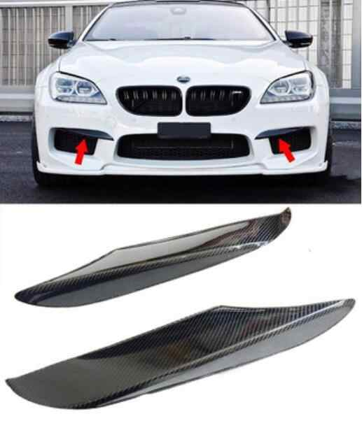 JIOYNG de fibra de carbono coche separadores de parachoques delantero SPOILER cubiertas laterales para 12-18 BMW F06 F12 F13 640i 650i 6 de la serie 2012-2018