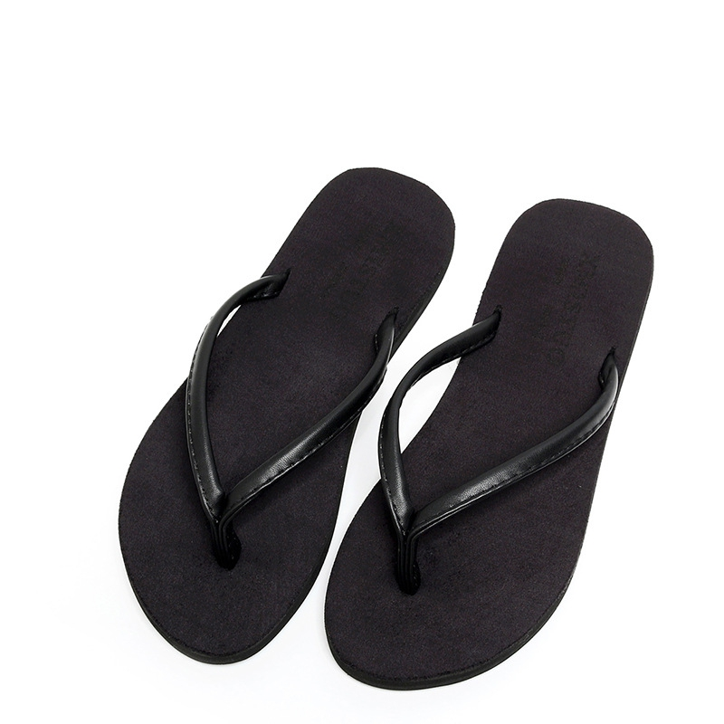 2018 New Fashion Women Man Flip Flops Solid Flat Heel Beach Narrow Band Casual Slippers for Lovers Brand Black EVA Shoes krorche brand new unisex lovers flip flops indoor