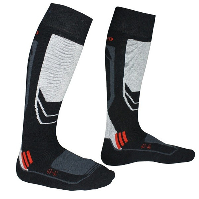 Mens Thick Cotton Socks Towel Bottom Warm Stockings Outdoor Sport Skiing sock Black+Gray Cycling Racing Football Socking