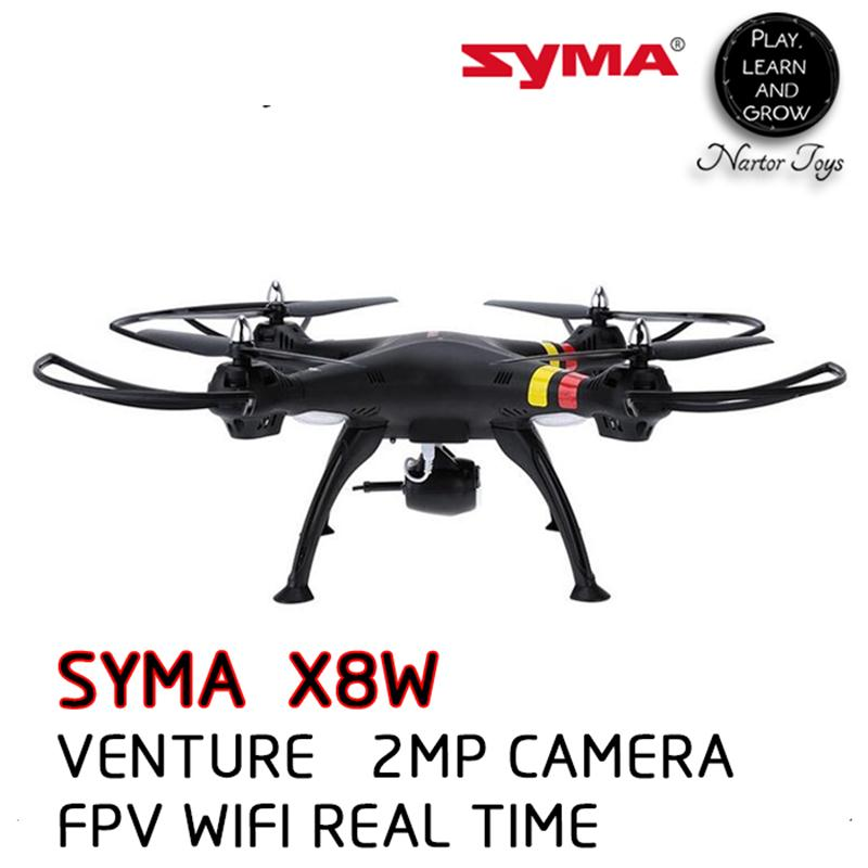 SYMA X8W RC Drone With Camera 2MP HD Camera 2.4G 4CH Professional Quadcopter Wifi Real-time Transmit Drone with 4G Memory Card syma x8c 2 4g 4ch professional fpv quadcopter drone with hd camera wifi real time transmit control helicopter toy